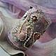 """Браслеты ручной работы. Ярмарка Мастеров - ручная работа. Купить Войлочный браслет """"Романтiк вояж"""". Handmade. Розовый"""