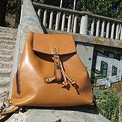 Сумки и аксессуары handmade. Livemaster - original item Bag - rucksack, backpack - transformer : DELICIOUS BUTTERSCOTCH, the backpack leather. Handmade.