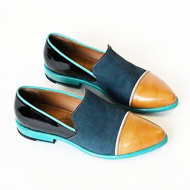 Обувь ручной работы. Ярмарка Мастеров - ручная работа Туфли лоферы. Handmade.