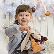 Куклы и игрушки ручной работы. Ярмарка Мастеров - ручная работа мой Зайка_текстильная игрушка. Handmade.