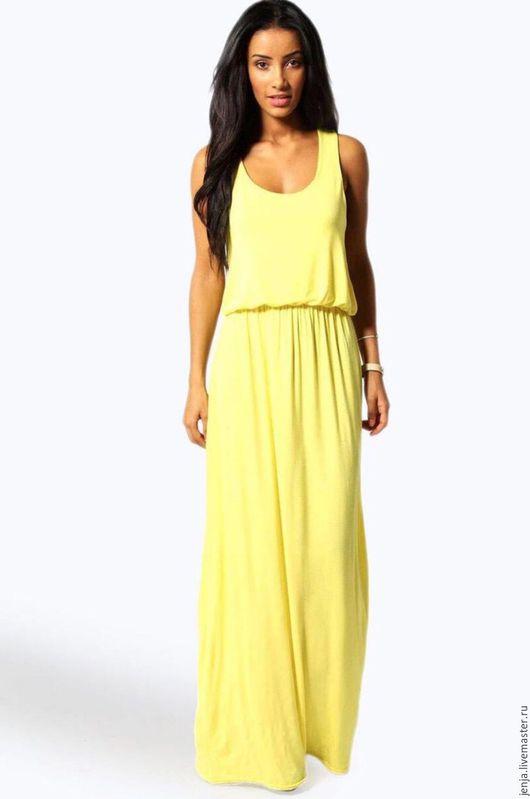 Платья ручной работы. Ярмарка Мастеров - ручная работа. Купить Rainbow maxi dress in yellow SALE. Handmade. Желтый