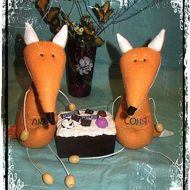 Куклы и игрушки ручной работы. Ярмарка Мастеров - ручная работа Лисички - сестрички..... Handmade.
