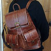 Сумки и аксессуары handmade. Livemaster - original item Backpack leather city 57. Handmade.
