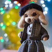 Куклы и игрушки ручной работы. Ярмарка Мастеров - ручная работа Собака из шерсти Алиска. Handmade.