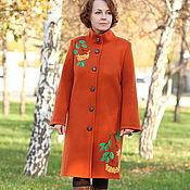 """Одежда ручной работы. Ярмарка Мастеров - ручная работа Вязаное пальто"""" Рябинка"""". Handmade."""