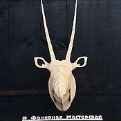 Скульптуры ручной работы. Ярмарка Мастеров - ручная работа Голова животного из фанеры (Антилопа). Handmade.
