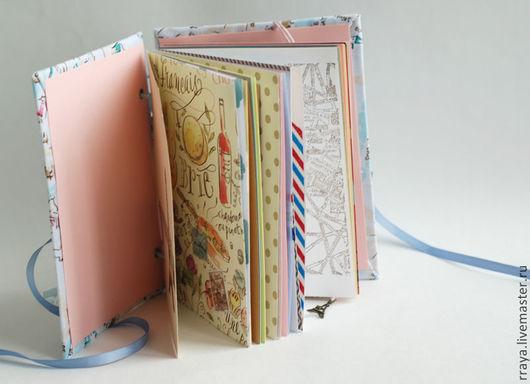 """Фотоальбомы ручной работы. Ярмарка Мастеров - ручная работа. Купить тревелбук """"Париж"""". Handmade. Travel journal, блокнот для путешествий, фотоальбом"""