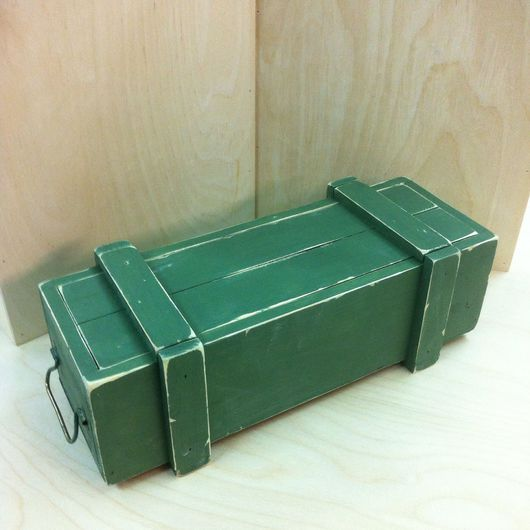 Подарочная упаковка ручной работы. Ярмарка Мастеров - ручная работа. Купить Военный ящик из дерева, подарочный футляр для бутылки. Handmade.