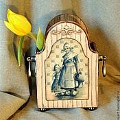 """Для дома и интерьера ручной работы. Ярмарка Мастеров - ручная работа Короб для карандашей,ложек,спиц,салфеток. """"Голландская плакетка"""". Handmade."""