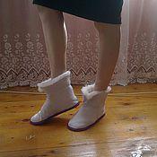 Обувь ручной работы. Ярмарка Мастеров - ручная работа Домашние тапочки ЧУНИ. Handmade.