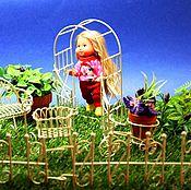 """Мебель для кукол ручной работы. Ярмарка Мастеров - ручная работа Большой набор """"Отдых на Даче"""" для кукольного сада в подарок.. Handmade."""