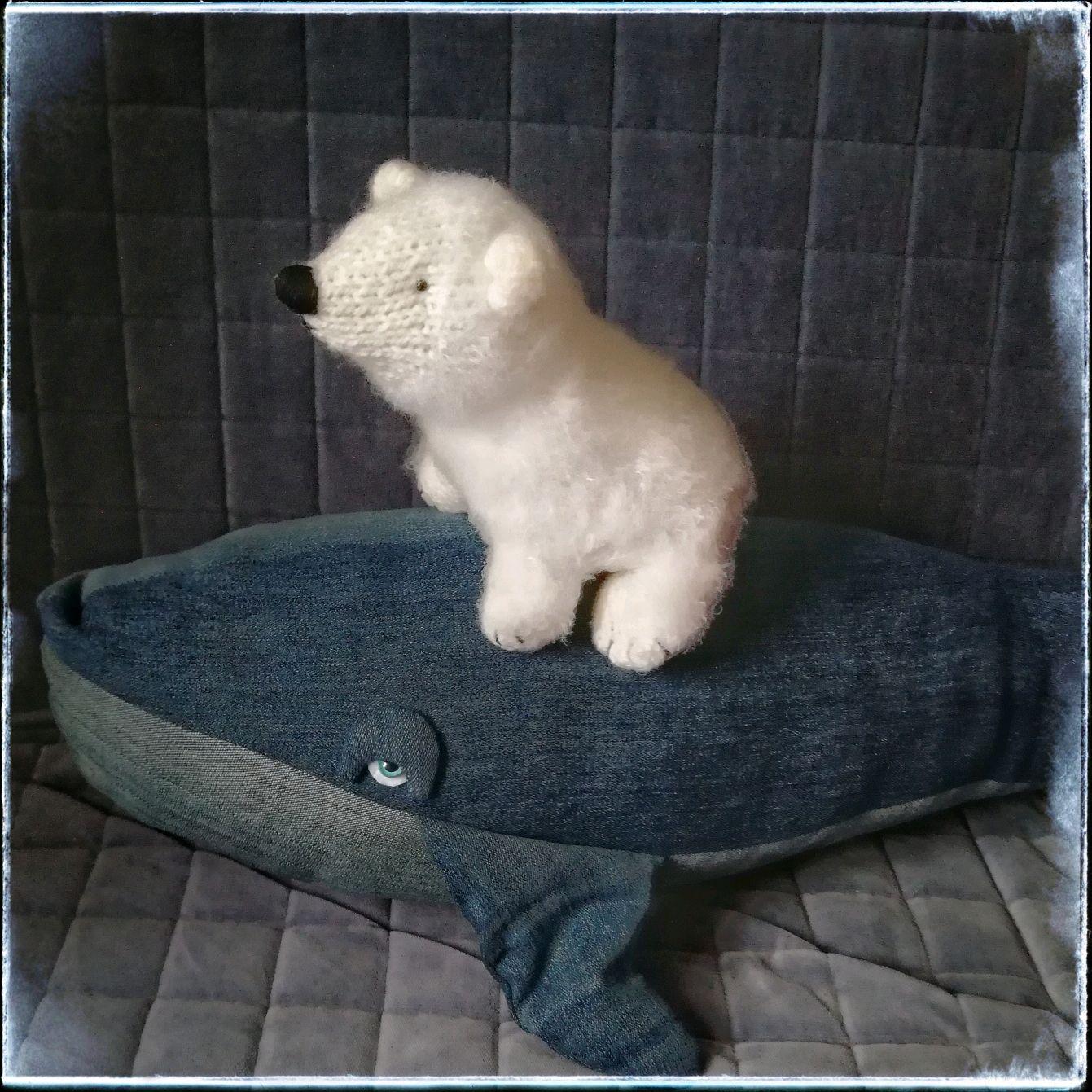 Мишка, медведь полярный вязаный, Мягкие игрушки, Москва,  Фото №1
