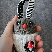 Куклы и игрушки ручной работы. Ярмарка Мастеров - ручная работа Мухоморный заяц. Handmade.