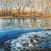 Картины и панно handmade. Livemaster - original item Spring in the Urals. Reflection.. Handmade.