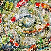 Картины ручной работы. Ярмарка Мастеров - ручная работа Волшебные карпы Кои. Handmade.