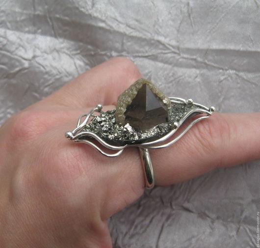"""Кольца ручной работы. Ярмарка Мастеров - ручная работа. Купить Кольцо с Раухтопазом в """"шапочке"""". Handmade. Комбинированный, раух, раухтопаз натуральный"""
