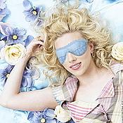 """Одежда ручной работы. Ярмарка Мастеров - ручная работа Маска для сна - """"Сны в стиле Tiffany blue"""". Handmade."""