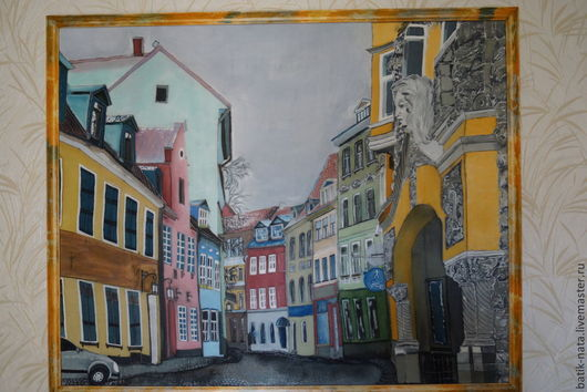 """Город ручной работы. Ярмарка Мастеров - ручная работа. Купить Рига-""""Цветочная улица"""". Handmade. Город, панно, картины в подарок"""