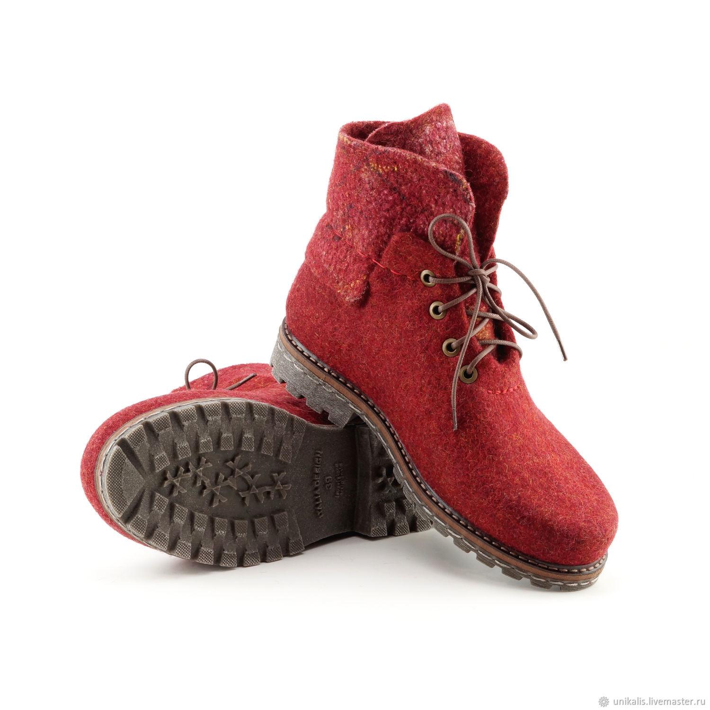 4c3b5001b Обувь ручной работы. Ярмарка Мастеров - ручная работа. Купить Валяные  ботинки 'Импровизация' ...