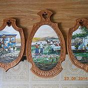 Для дома и интерьера ручной работы. Ярмарка Мастеров - ручная работа набор расписных деревянных досок. Handmade.
