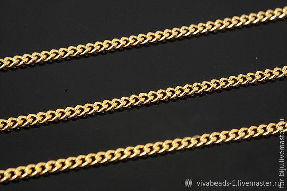50 smapi thin 1,8 mm gold-plated th. Korea (art. 2557), Chains, Voronezh,  Фото №1