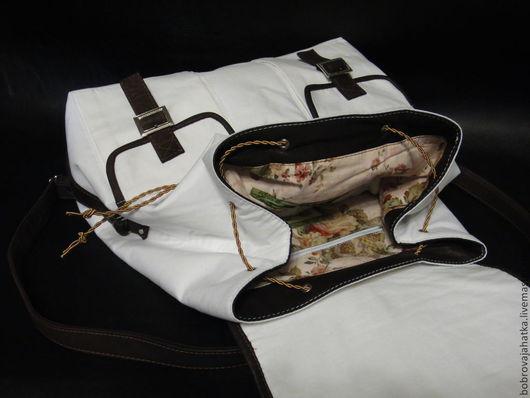 Женский рюкзак шебби шик, розы шебби