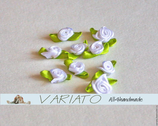 Шитье ручной работы. Ярмарка Мастеров - ручная работа. Купить ВРЕМЕННО НЕТ! Атласные цветы 1,5 см разные. Handmade.