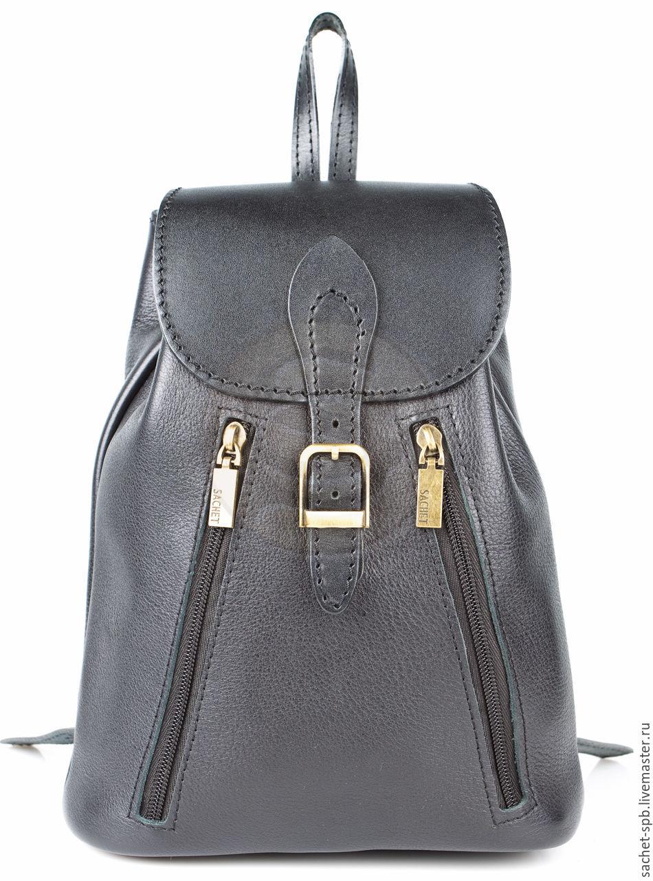 Womens leather backpack 'jolie' black smooth, Backpacks, St. Petersburg,  Фото №1