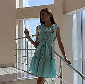 Одежда ручной работы. Ярмарка Мастеров - ручная работа Платье летнее хлопковое с вискозой. Handmade.