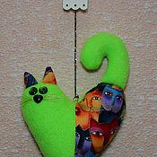 Мягкие игрушки ручной работы. Ярмарка Мастеров - ручная работа Кот сердечный. Handmade.