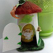 Куклы и игрушки ручной работы. Ярмарка Мастеров - ручная работа Гном в домике. Handmade.