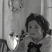Работы для детей, handmade. Livemaster - original item Silver teaspoon