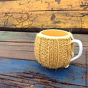 """Для дома и интерьера ручной работы. Ярмарка Мастеров - ручная работа """"Тыковки"""" чашки в свитерках. Handmade."""