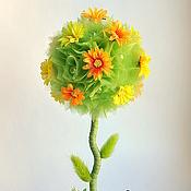 """Цветы и флористика ручной работы. Ярмарка Мастеров - ручная работа Топиарий """"Веселая пчелка"""". Handmade."""