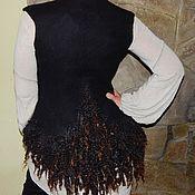 """Одежда ручной работы. Ярмарка Мастеров - ручная работа Авторский валяный жилет """" Deep night"""". Handmade."""