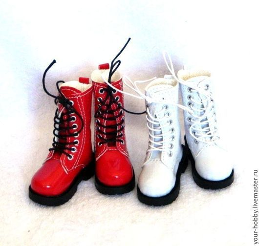 Куклы и игрушки ручной работы. Ярмарка Мастеров - ручная работа. Купить Сапожки лакированные. 7,3см. Обувь для кукол.. Handmade.