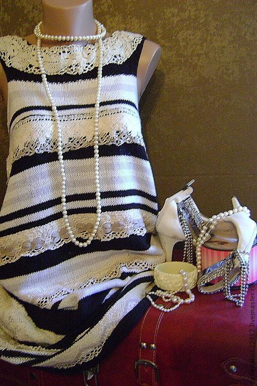 Платья ручной работы. Ярмарка Мастеров - ручная работа. Купить ,,A la ..,,эксклюзивное платье ручной работы. Handmade. вязаное