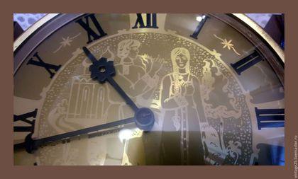 Винтажные предметы интерьера. Ярмарка Мастеров - ручная работа. Купить СССР Механические часы дерево. Handmade. Комбинированный, часы весна