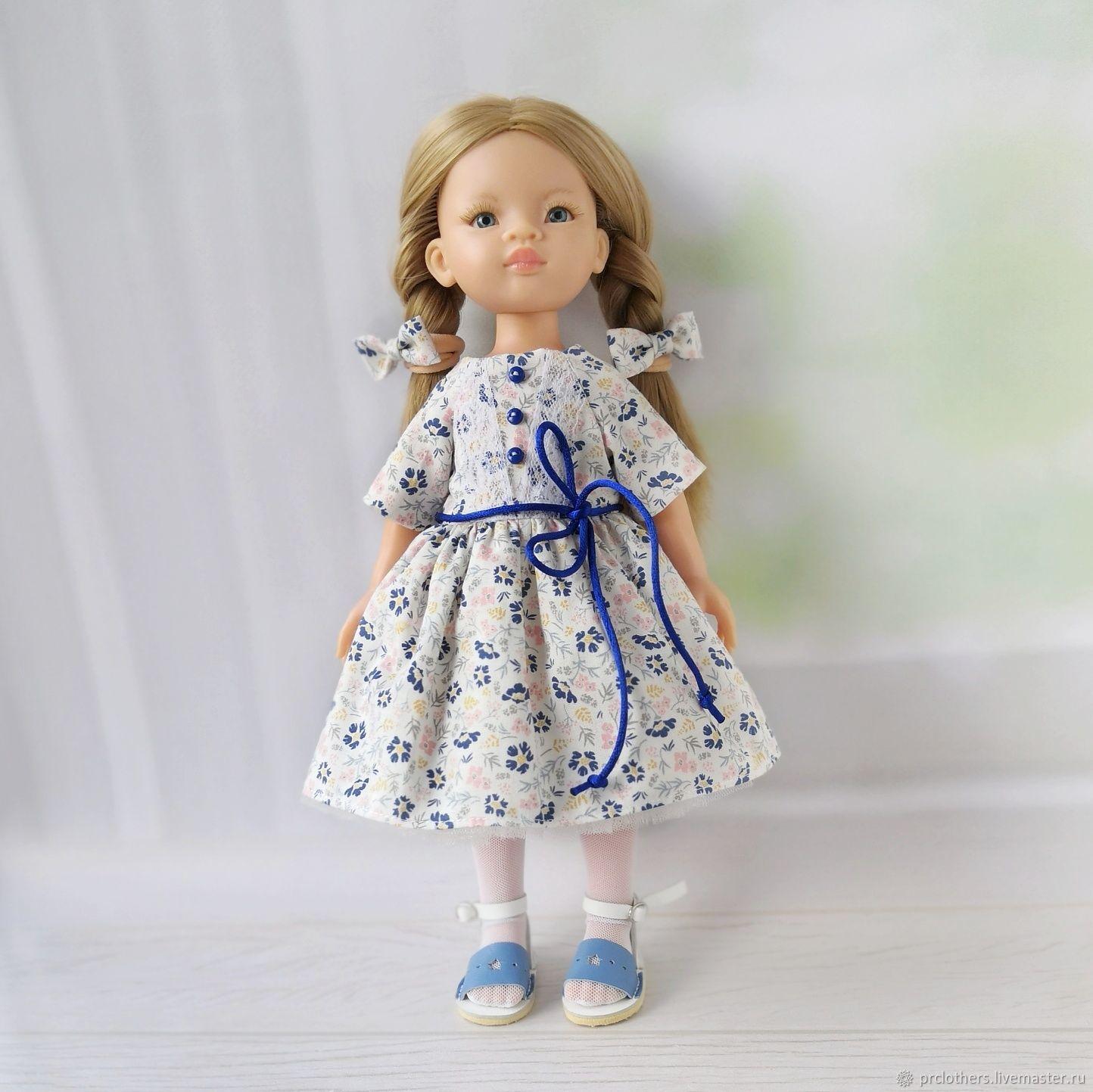 Платье + чулки + резиночки для Паола Рейна, Одежда для кукол, Свободный,  Фото №1