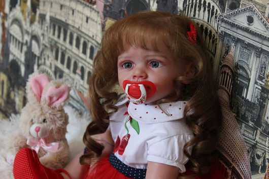 Куклы-младенцы и reborn ручной работы. Ярмарка Мастеров - ручная работа. Купить ФРИДОЛИНКА - 3 . ПРОДАНА .. Handmade. Бежевый