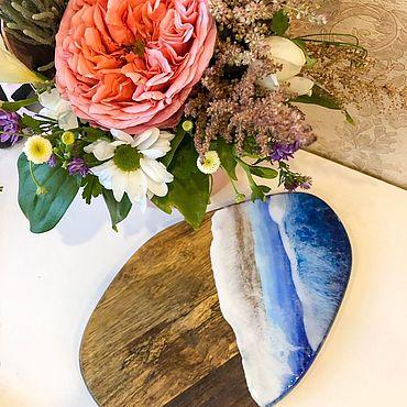 Для дома и интерьера ручной работы. Ярмарка Мастеров - ручная работа Сервировочная доска море. Handmade.