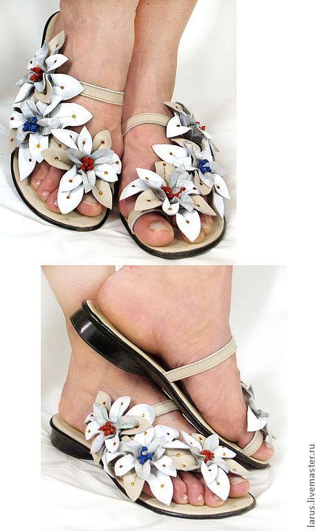 Обувь ручной работы. Ярмарка Мастеров - ручная работа. Купить ЖЕНСКИЕ босоножки. Handmade. Женские туфли