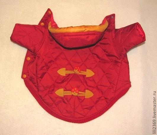 """Одежда для собак, ручной работы. Ярмарка Мастеров - ручная работа. Купить Курточка """"Красная"""". Handmade. Одежда для собак на заказ, йорк"""