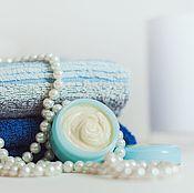 Косметика ручной работы handmade. Livemaster - original item Face cream Olive Primrose Food and care blue. Handmade.