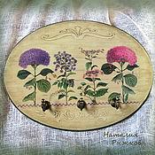 Для дома и интерьера ручной работы. Ярмарка Мастеров - ручная работа вешалка Гортензии. Handmade.