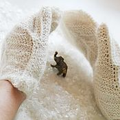 Аксессуары handmade. Livemaster - original item Down mittens knitted from goat down hand-spinning. Handmade.
