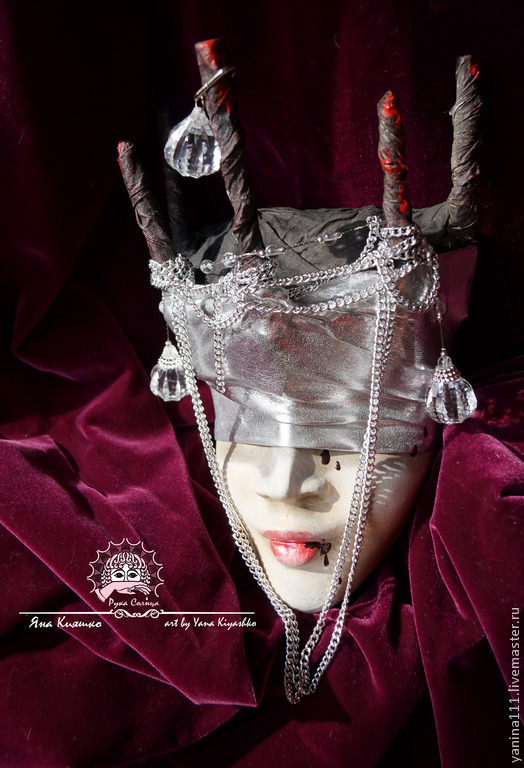 """Интерьерные  маски ручной работы. Ярмарка Мастеров - ручная работа. Купить """"Поверженная темная королева"""" (Маска интерьерная тематическая). Handmade."""