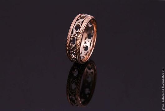 Золотое обручальное кольцо 585 пробы