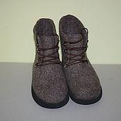 Обувь ручной работы. Ярмарка Мастеров - ручная работа Валенки-ботинки Коричневые. Handmade.