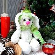 Куклы и игрушки ручной работы. Ярмарка Мастеров - ручная работа Зайка Длинноухий.Друг медвежонка Тедди Готовая работа. Handmade.